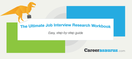 careerasaurus job interview research workbook front cover image